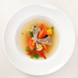 Vegetable soup with ribs Stock Photography