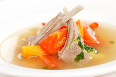 Vegetable soup with ribs Royalty Free Stock Photos