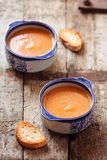 Vegetable soup / wooden background Stock Photo