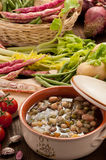Vegetable soup - setting Stock Image