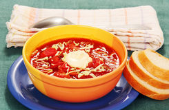 Vegetable soup with tomato Royalty Free Stock Images