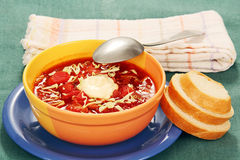 Vegetable soup with tomato Stock Images