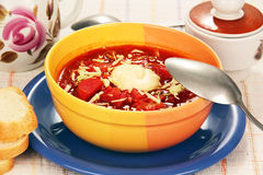 Vegetable soup with tomato Royalty Free Stock Photography