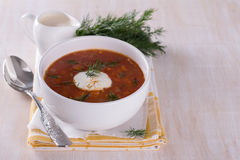 Vegetable soup with tomatoes Stock Images