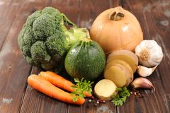 Vegetable for soup stock photos