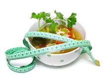 Vegetable soup for weight loss Royalty Free Stock Photography