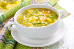 Vegetable soup Stock Images