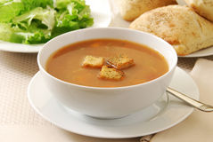 Free Vegetable Soup With Croutons Royalty Free Stock Image - 16563646