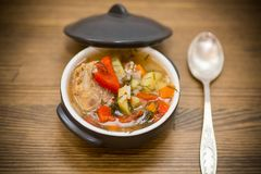 Vegetable Soup With Meatballs And Pepper Royalty Free Stock Images