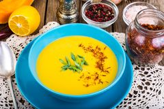 Vegetable soups in dietary nutrition. Studio Photo Royalty Free Stock Photos