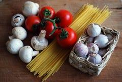 Vegetable and spaghetti Stock Photo