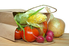 Free Vegetable Spilling Out Of Bag Stock Photos - 26487383