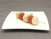 Vegetable spit with bean curd Stock Image