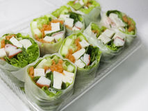 Vegetable spring roll Stock Photo