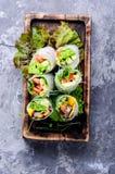 Vegetable spring rolls Stock Photo