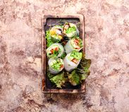 Vegetable spring rolls Stock Photography