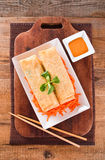 Vegetable spring rolls. Royalty Free Stock Photos