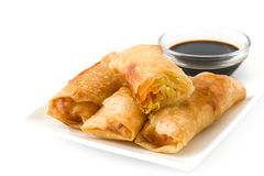 Vegetable spring rolls isolated Stock Image
