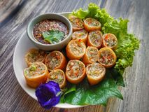 Vegetable Spring Rolls royalty free stock photo
