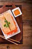 Vegetable spring rolls. Royalty Free Stock Photo