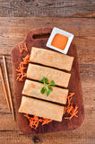 Vegetable spring rolls. Royalty Free Stock Image