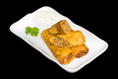 Vegetable Spring Rolls royalty free stock image