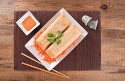 Vegetable spring rolls. Stock Images