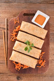 Vegetable spring rolls. Stock Photography