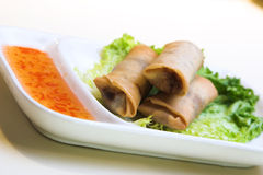 Vegetable Springrolls Stock Photo