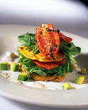 Vegetable Stack. Entree in restaurant Stock Images