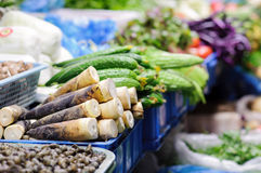 Vegetable Stall At Chinese Market Royalty Free Stock Photo