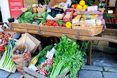 Vegetable stall, Broadway. Royalty Free Stock Photography