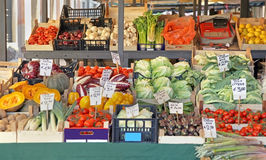 Vegetable stall Royalty Free Stock Photos
