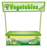 A vegetable stall. Illustration of a vegetable stall on a white background royalty free illustration