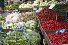 Vegetable stall on market Royalty Free Stock Image