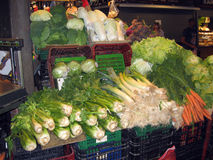 Vegetable stall in the market  Barcelona Stock Photo