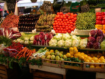 Vegetable stall Stock Image