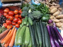 Vegetable stall Stock Photo