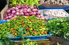 Vegetable stall. Vegetable stand somewhere in the Dominican Republic royalty free stock image