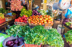 Vegetable stall. Vegetable stand somewhere in the Dominican Republic stock photos