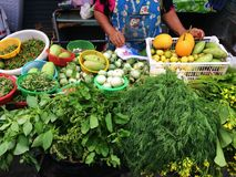 Vegetable stall. At thai fresh market Royalty Free Stock Photography