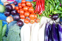 Vegetable stall Royalty Free Stock Images