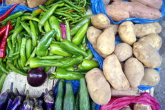 Vegetable stall Stock Photo