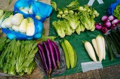 Vegetable stalls Stock Images
