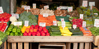 Vegetable Stand 1 Royalty Free Stock Photography
