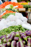 A vegetable stand. At a street market Stock Photography