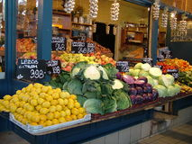 Vegetable stand Royalty Free Stock Photography