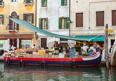 Vegetable Stand on the Grand Canal Royalty Free Stock Image