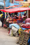 Vegetable Stands in La Paz, Bolivia Stock Image