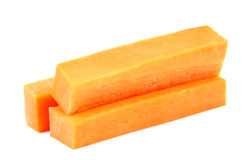 Vegetable staple raw orange carrot isolated on white Royalty Free Stock Photo